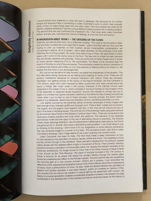 Electric Ladyland, Julien Colombier, texte de Sumiko Oé-Gottini, bilingue français et anglais, 112 pages, Lienart éditions, Abbaye de Maubuison, création contemporaine, design, collaboration artistique